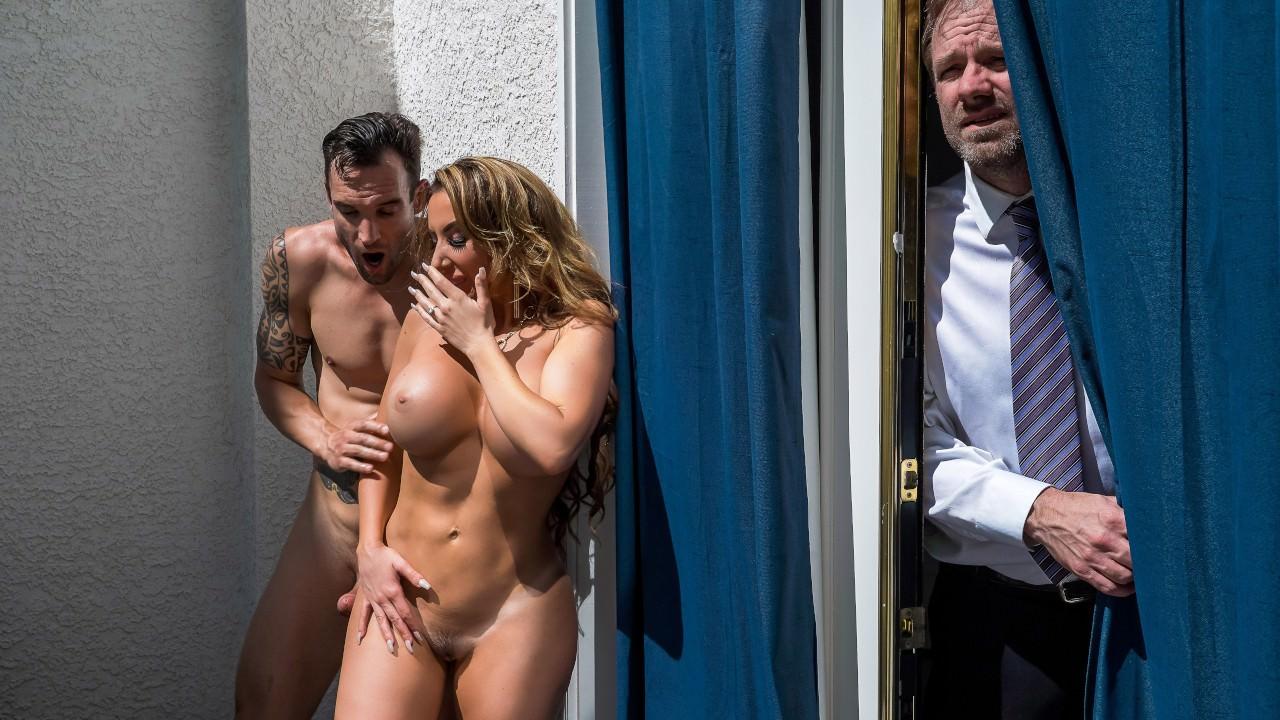 sneakysex presents balcony-bluff in episode: Balcony Bluff